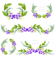 Watercolor floral design elements vector image vector image