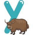 Y for yak vector image vector image