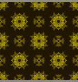yellow ornamental seamless line pattern vector image