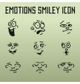 Different Emotions for comics on the old vector image