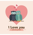Love and romantic icons design vector image