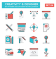 Modern Flat Line icon Concept of Creativity vector image