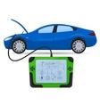 Car diagnostics test service vector image