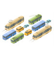 isometric public and passenger transport vector image