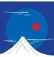 Mountain Fuji at night Japanese landscape vector image