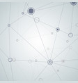 abstract connect molecule design vector image vector image