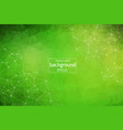abstract dark green polygonal space background vector image vector image