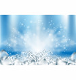 abstract icy cubes background ice vector image vector image