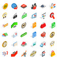 barter icons set isometric style vector image vector image