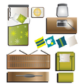 Bedroom top view set 5 for interior vector image