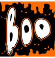 boo card vector image vector image