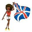 British flag girl vector image vector image