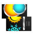 business card heating and cooling vector image vector image