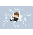 Businessman breaking the wall to Freedom vector image