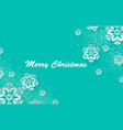 christmas holiday design with paper cut snowflake vector image vector image