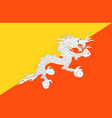 close up flag bhutan vector image vector image
