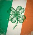clover irish grunge vector image