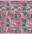 color pattern with ornament in mandala style vector image vector image