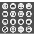 computer equipment simple icons vector image vector image