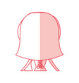 cute wife back avatar character vector image vector image