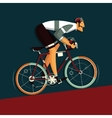 Cyclist athlete cartoon vector image