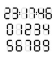 digital number set vector image vector image