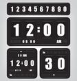 Digital retro clock and calendar vector image vector image