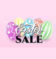 easter sale banner template with easter colorful vector image