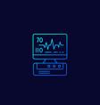ecg machine heart diagnostics linear icon vector image