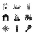 family travel icons set simple style vector image vector image