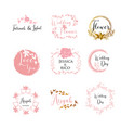 feminine wedding planner template logo sign vector image vector image