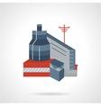 Flat icon industrial building vector image vector image
