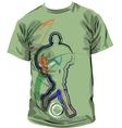 Football T-shirt vector image