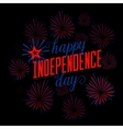 Fourth of July background Felicitation postcard vector image vector image