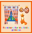 Furniture for the little Princess sly Fox vector image vector image