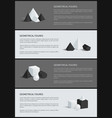 geometrical figures collection vector image