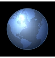 globe icon with light map continents vector image