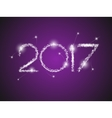 Happy New Year 2017 The figures with silver vector image vector image