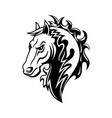 horse or mustang animal icon tattoo and mascot vector image vector image