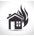 house insurance fire house design vector image