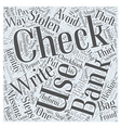 identity theft stolen checks Word Cloud Concept vector image vector image