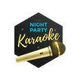 karaoke party label vector image