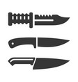 knife icons set on white background vector image vector image