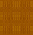 knitted brown pattern vector image vector image