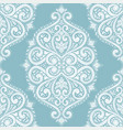 light blue and white ornamental seamless pattern vector image vector image