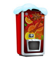 machine for sugary soda water or mulled wine vector image