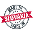 made in Slovakia red round vintage stamp vector image vector image