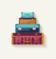 Mountain suitcases vector image