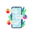 online chat concept vector image vector image