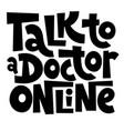 online doctor lettering vector image